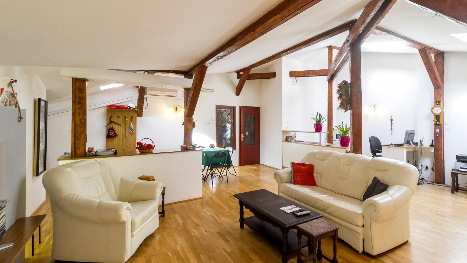 living-spatiu-socializare-apartament-3-camere-2-bai-mansarda-vila-Parc-Carol